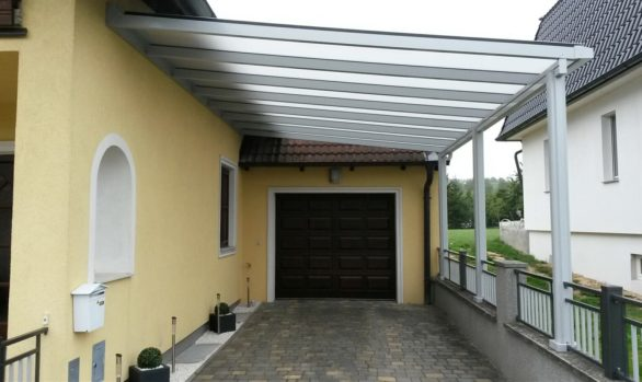 Einfahrsüberdachung, Garagenvorbau