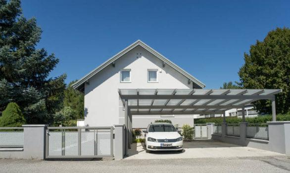 Doppelcarport und Vorplatzüberdachung