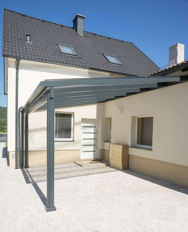 terrassen berdachung vordach pultdach carports und terrassen berdachungen. Black Bedroom Furniture Sets. Home Design Ideas